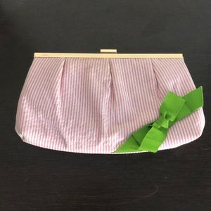 Lilly Pulitzer Seersucker Clutch with Bow